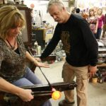 Ed teaching glass blowing