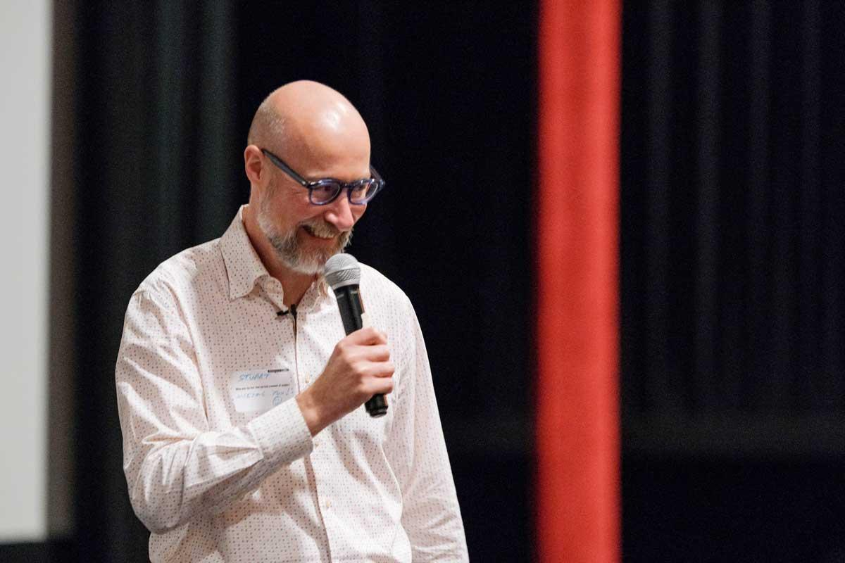 Stuart Chittenden speaks at CreativeMornings/Omaha