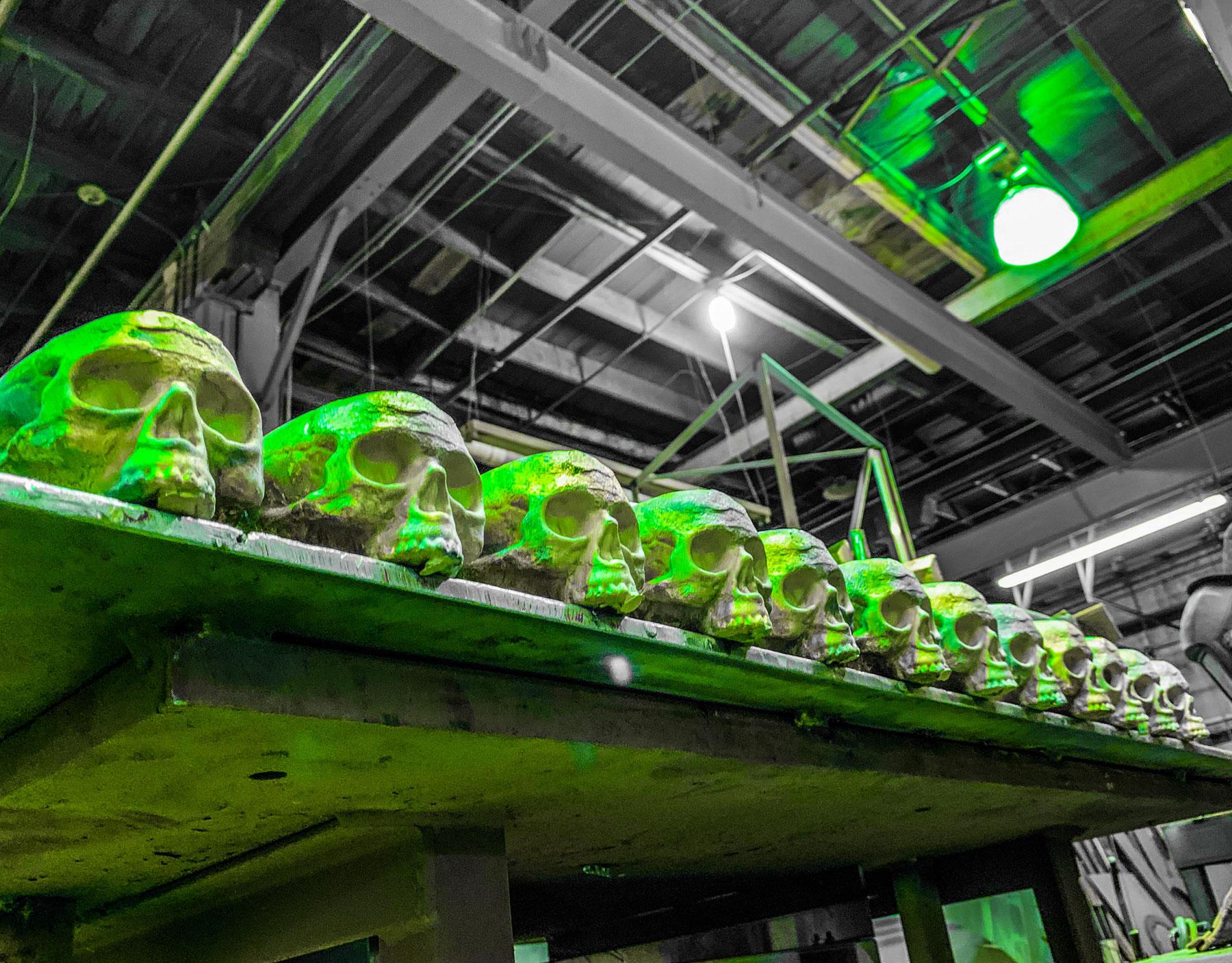 Bronze skulls